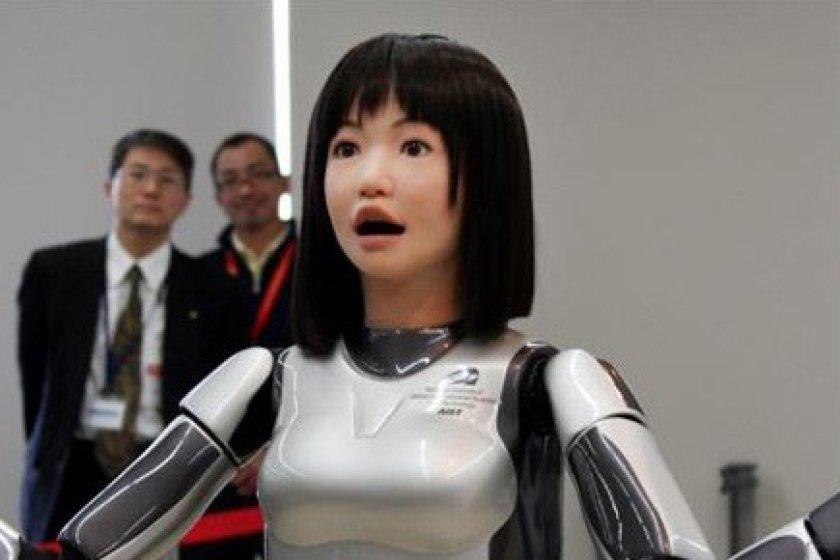 Demonstração do robô do hotel