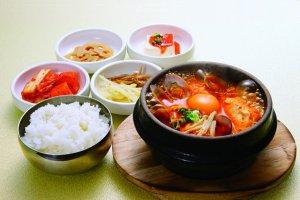 Healthy and delicious food at Kudara Rikyu