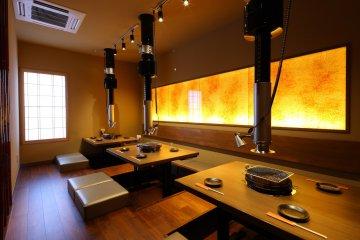 <p>Sunken Kotatsu with a built-in footwarmer.</p>