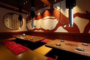 Spacious dining options at Kudara Rikyu