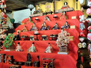For the entire month of February, view traditional hina doll displays like this one. There are also many creative non-traditional displays to enjoy.