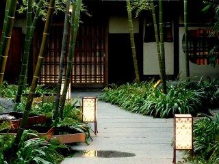 Бамбуковый сад и фонари