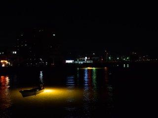 新町川でのシラス漁