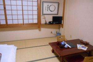 Une chambre du ryokan Matsumae
