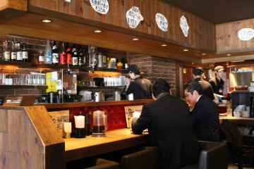 <p>Counter at Gogyo</p>