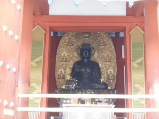 Yakushiji houses different Buddha-Triad, the Yakushi-Triad (in the Kondo) and the Mytreya Buddha Triad (in the Daikodo).