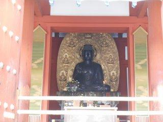 Yakushiji có nhiều vị bộ ba phật khác nhau, Yakushi-Triad (trong Kondo) và Mytreya Buddha Triad (trong Daikodo).
