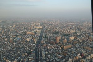 วิวจากโตเกียวสกายทรีที่ความสูง 350 เมตร