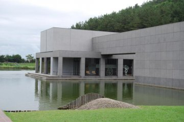 The Ken Domon Museum of Photography is a super-modern looking building