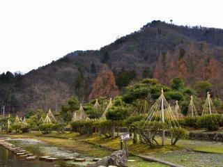 봄을 기다리며 3월 중순 아지마노엔 공원의 슬픈 풍경