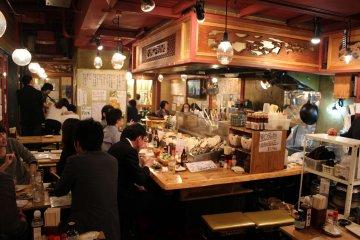 Inside Kaimaru – shellfish cuisine