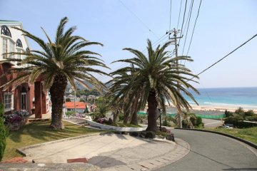 Hotels and pensions in Shimoda often have stunning views