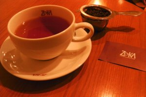 A cup of tea at Zoka Coffee