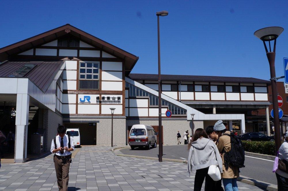 사가아라시야마 역, 여기에서 아라시야마로 출발했어요.