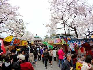 Lối đi dẫn đến ngôi đền ở giữa công viên là nơi tập trung nhiều quầy bán thức ăn nhất và cũng không dễ dàng gì để bạn tìm đường đi từ đầu này đến đầu kia.