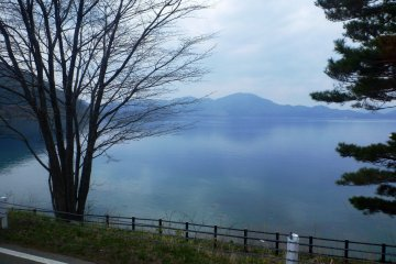 Cycling and Boating on Lake Tazawa
