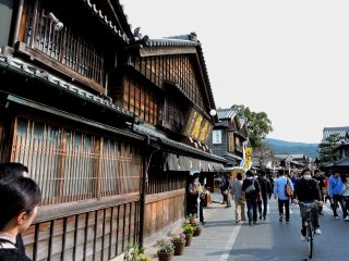 Old-fashioned Okage Yokocho street built by Akafuku