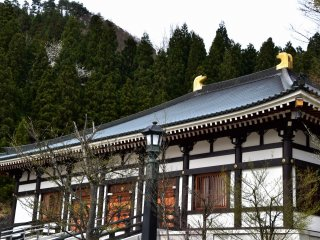 One of many temple buildings