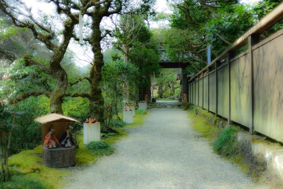 Approach to an old Japanese house