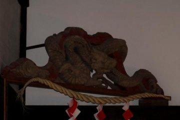 Ryotanji's dragon carving by Jingoro Hidari