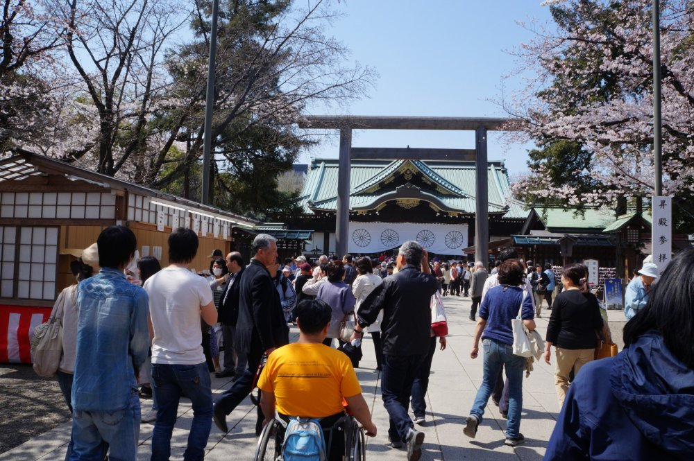 Entering the shrine grounds