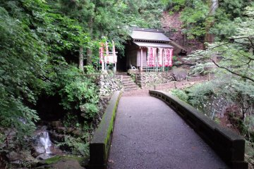 <p>Stone bridges and smaller shrines along the way</p>