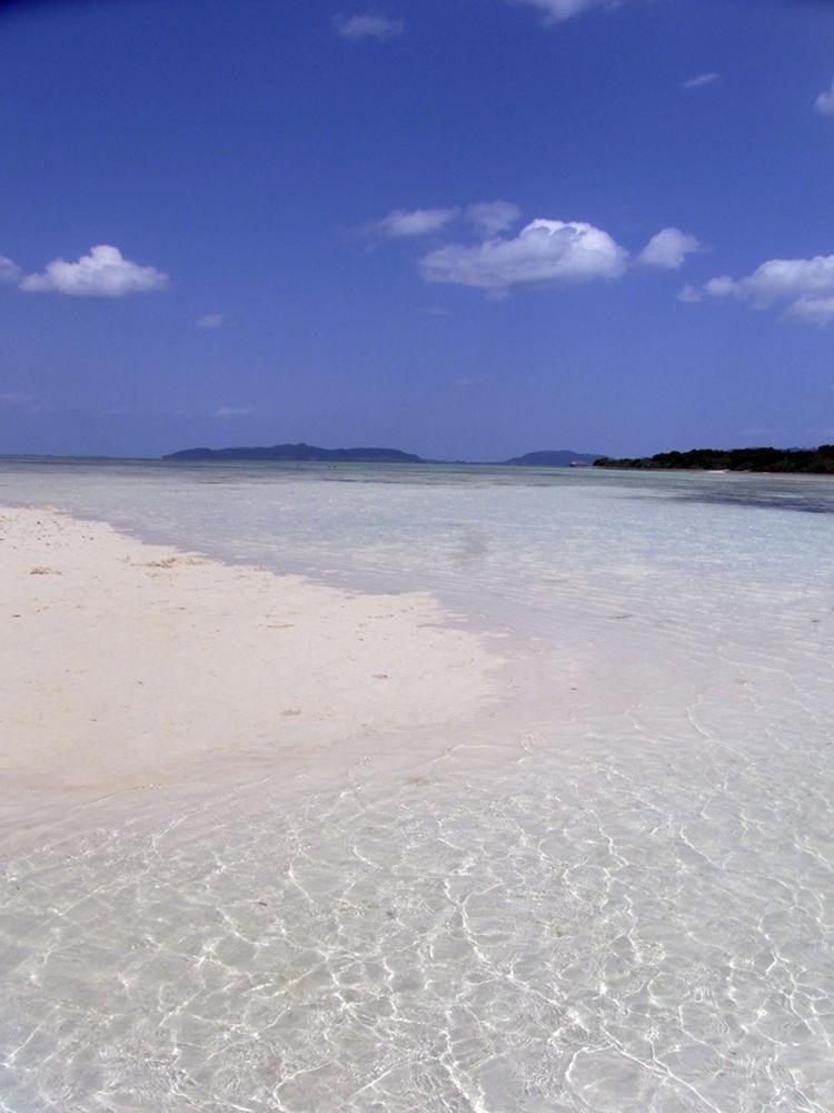 타케토미 섬의 따뜻하고 맑은 물은 이 섬을 완벽한 휴양지로 만든다