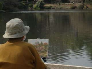 An artist tries to capture the fleeting beauty of spring on canvass.