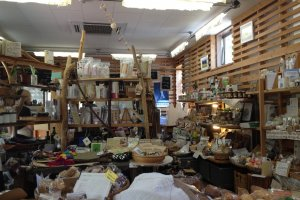 Himukamura-no-Takarabako also sells groceries and fair-trade crafts.