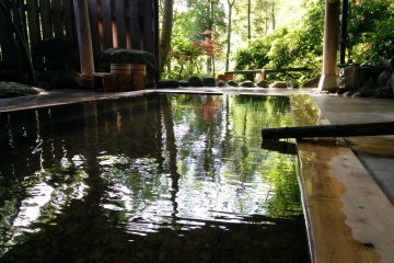 <p>The secluded outdoor bath behind the property&nbsp;</p>
