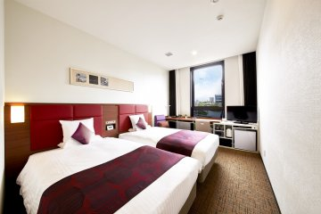 <p>The twin room option is perfect for multiple guests</p>