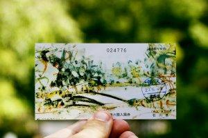Tấm vé vào cổng xinh đẹp