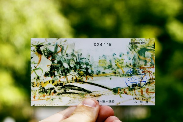 The pretty entrance ticket