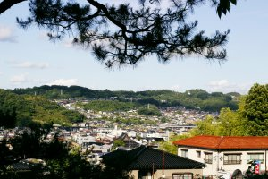 A fantastic view of Kanazawa from the park