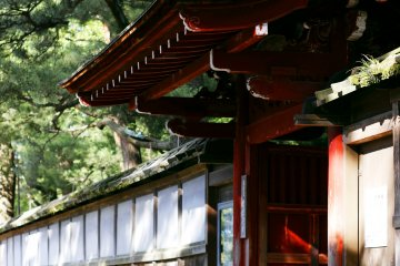 <p>The entrance to a famous tea house of a wife of an old feudal lord</p>