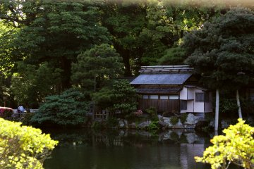 <p>Another tea house on the edge of a pond</p>
