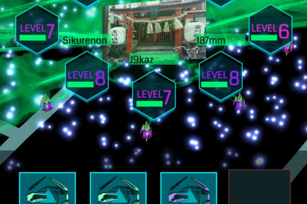 Clicking on a portal shows you its power-ups and defenses. Click on the middle picture to learn more about the real life location you are at