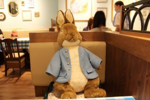 Peter Rabbit placed in front of me when I sat down