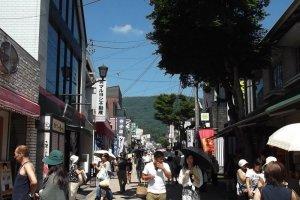 Rua principal de Kyu-Karuizawa