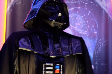 <p>Closer look of Darth Vader</p>