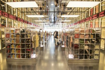<p>11F : Futuristic, chic, and super attention grabbing. This is the UT-Store, selling the latest limited edition Uniqlo designs available in Japan.</p>