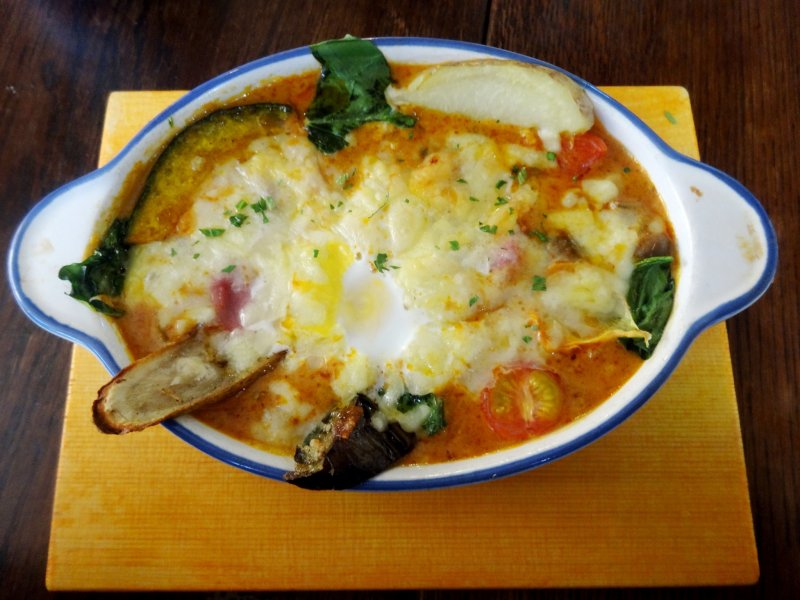 <p>Yaki-curry, or baked curry topped with cheese, is a specialty of the Moji&nbsp;district of Kitakyushu</p>