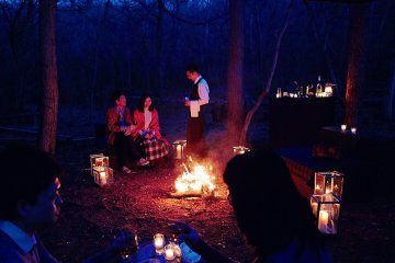 <p>By the campfire</p>