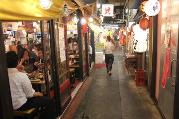<p>Cramped restaurants and lights, an ambience so full of life</p>