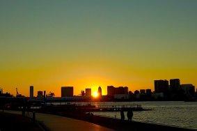 Pôr-do-sol na Praia em Odaiba