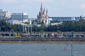<p>You can see Tokyo Disneyland in the distance</p>