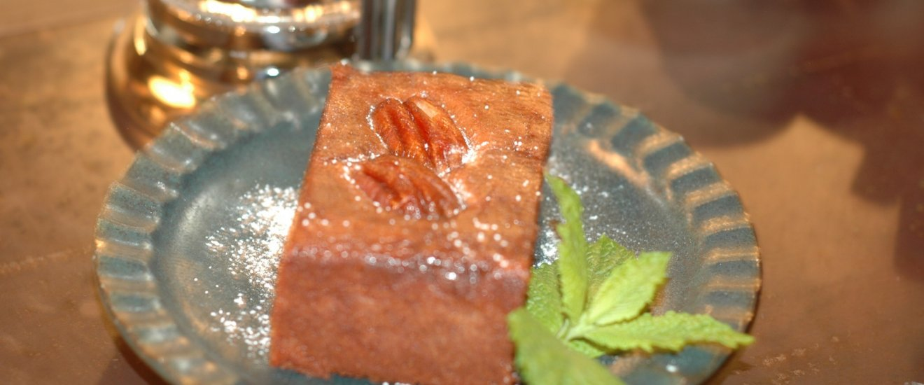 Cafe Sorte's decadent brownie.