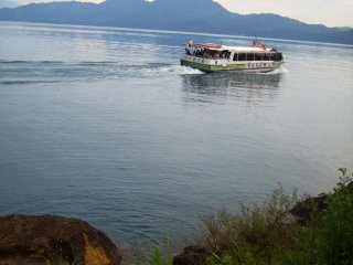 Or if you're too lazy to pedal yourself, how about a nice ferry boat?