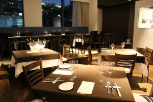Several tables and booths, window seating and private rooms available