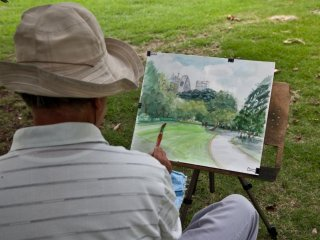 It is a popular spot for local artists to come and sketch the scenery